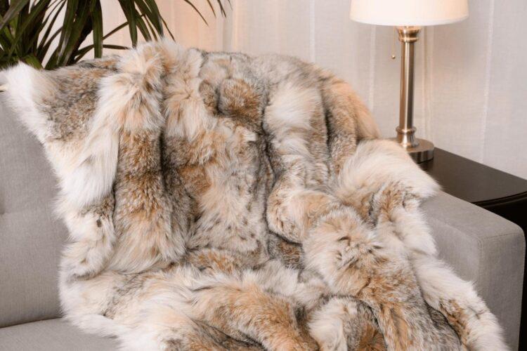 Canada Lynx Fur Blanket