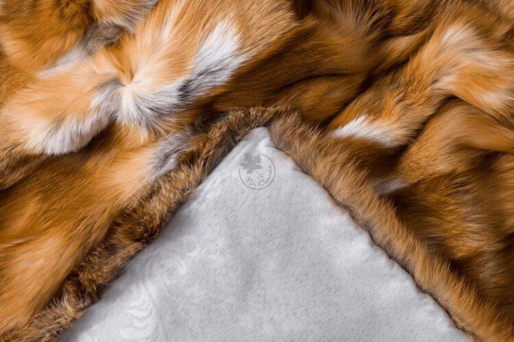 Red Fox Fur Blanket