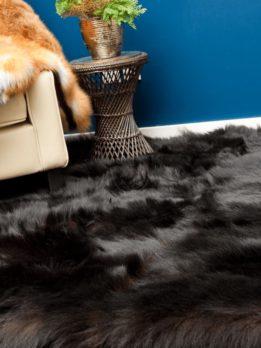 Black Bear Fur Carpet