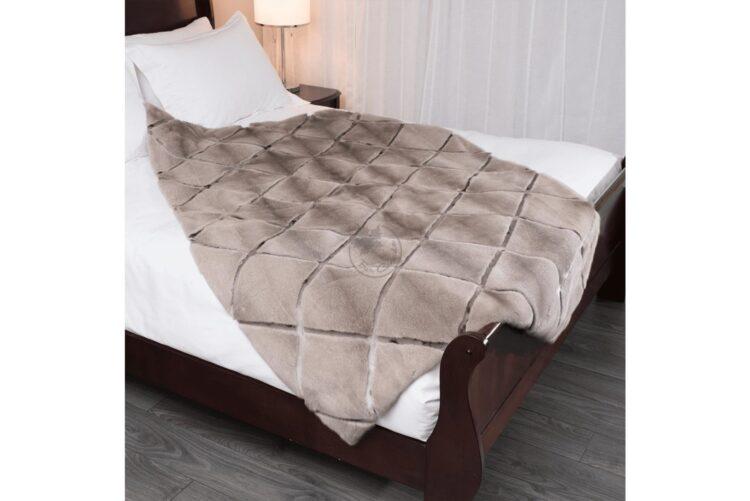 Mink Silver-Blue & Seal Diamond Style Blanket