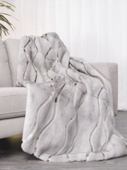 Mink Sapphire & Seal Wave Style Blanket