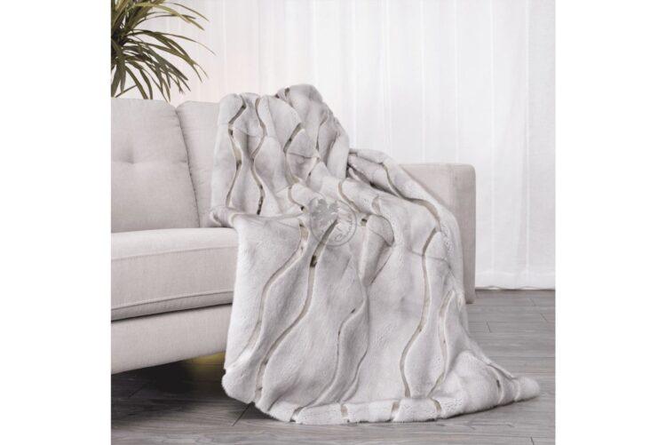 Mink Sapphire & Seal Wave Style Blanket