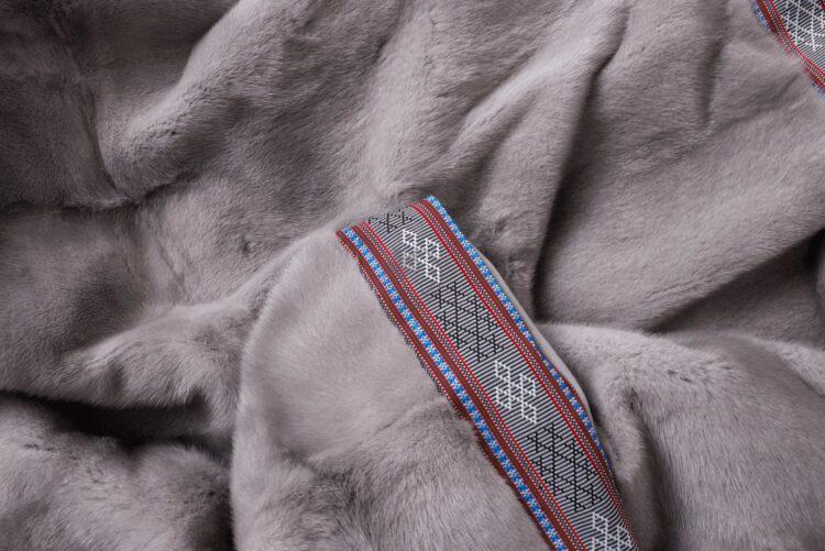 Mink Sapphire with Aztec Trim Blanket