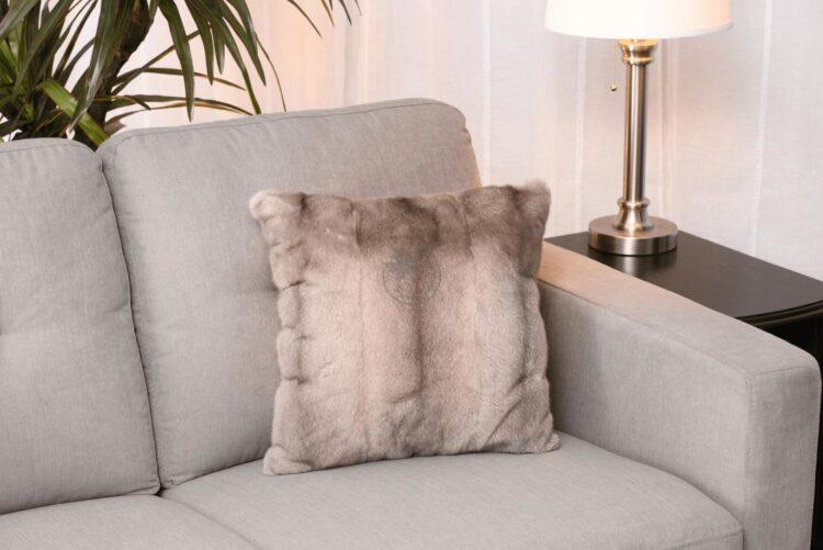 Mink Pillow - Silver Blue