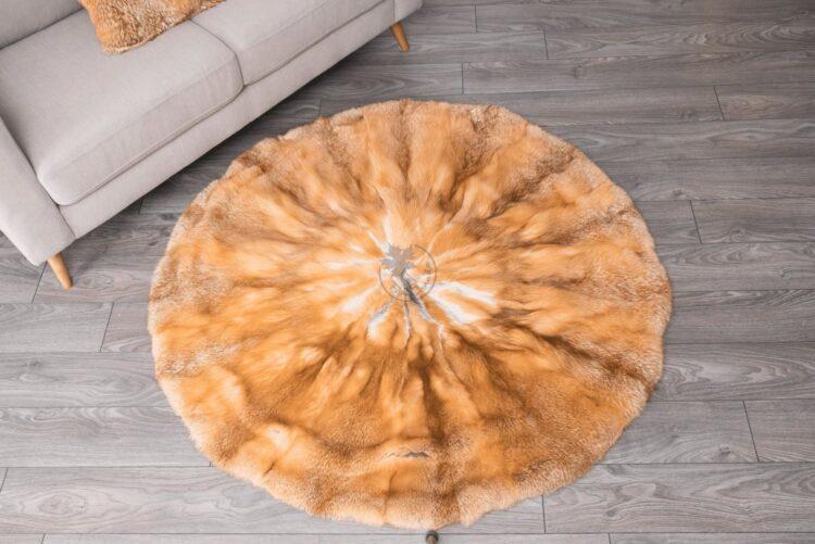Red Fox Round Carpet