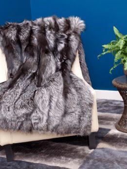 Silver Fox Fur Blanket