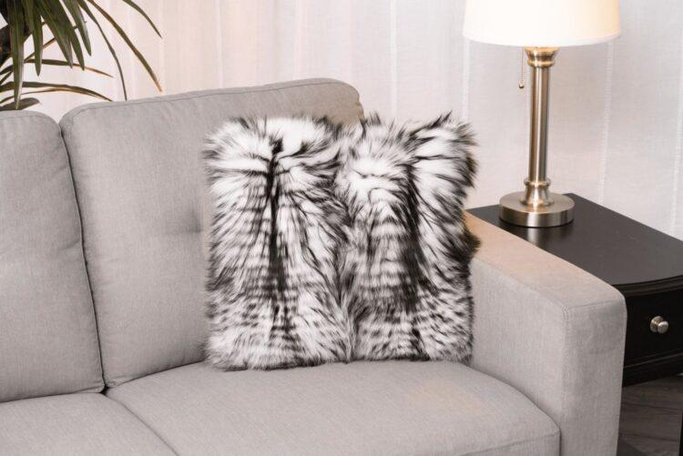 Silver & White Fox Pillow