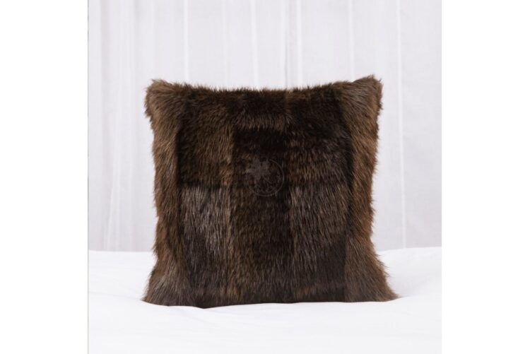 Beaver Pillow - Brick Pattern