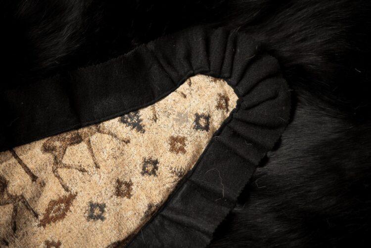 Black Bear Skin Rug - Backing