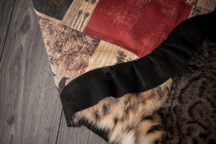 Bobcat Skin Rug - Backing