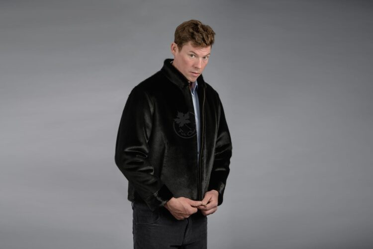 Men's Seal Skin Jacket - Black w/ Zipper