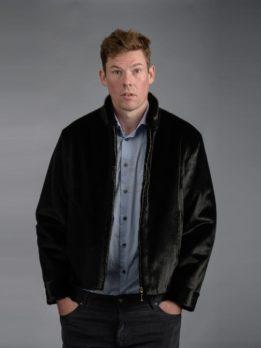 Men's Seal Skin Jacket - Black w/ Zipper