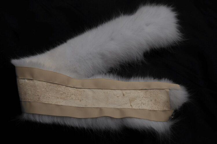 White Fox Fur Collar Backing