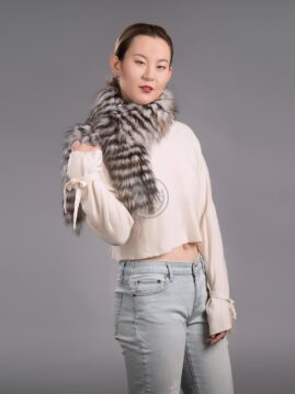 Silver & Cross Fox Scarf