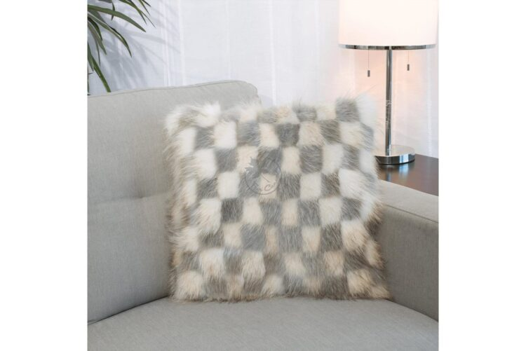 American Raccoon Pillow - Block