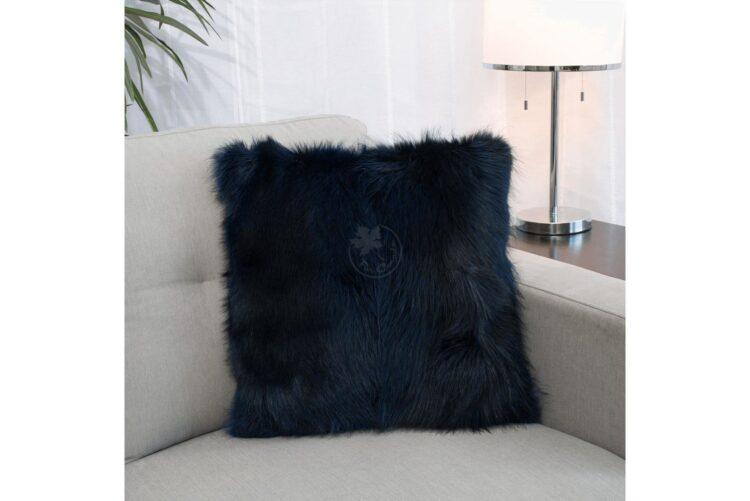 American Raccoon Pillow - Blue