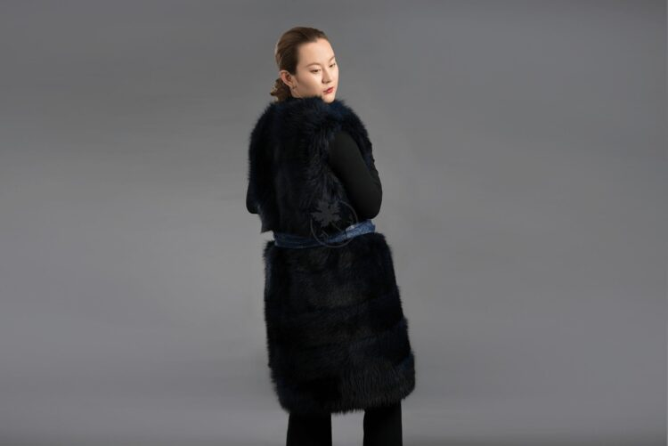 Raccoon - Long Vest with Belt