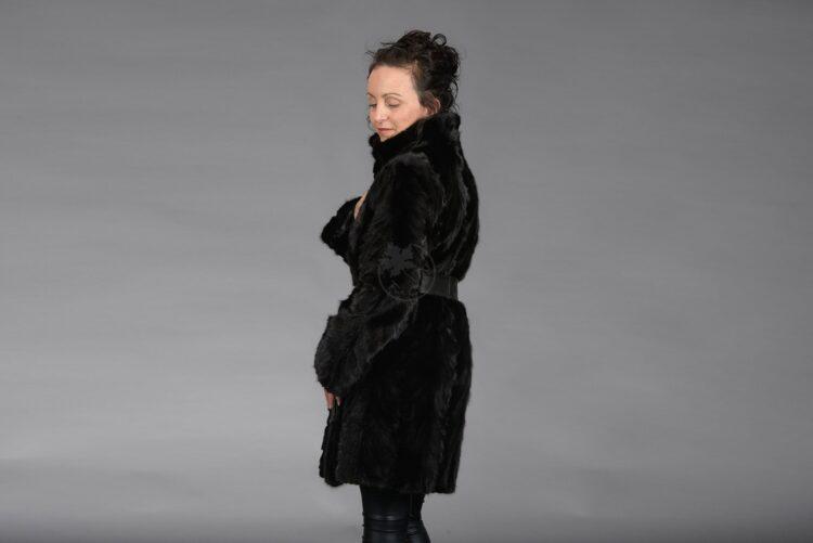 Black Mink Piece Coat