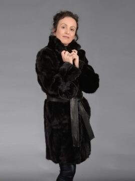 Black Mink Piece Coat