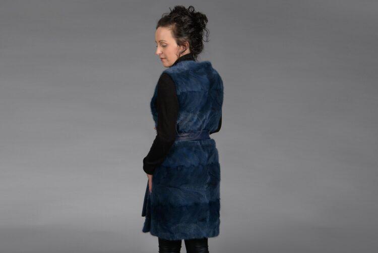 Blue Mink Piece Long Vest