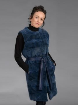 Blue Mink Piece Long Vest