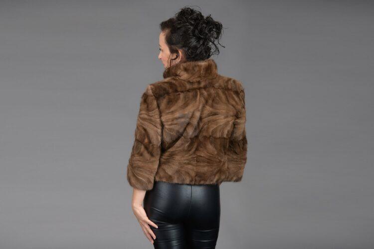 Demi Buff Mink Piece Short Jacket