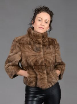 Demi Buff Mink Piece Short Jacket