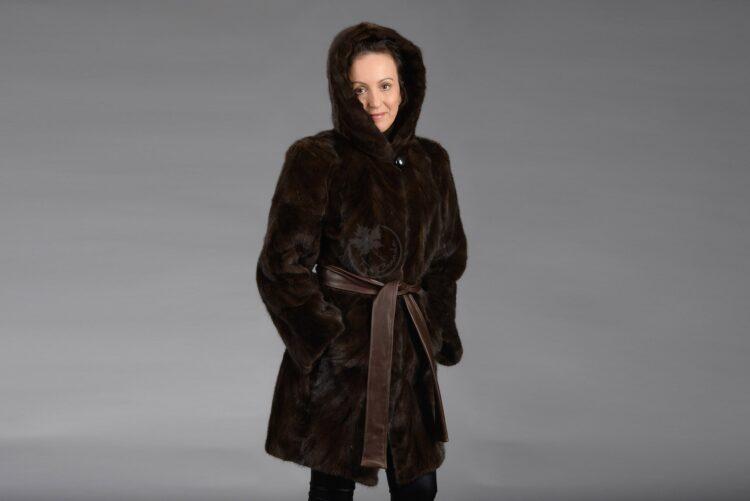 Mahogany Mink Piece Coat