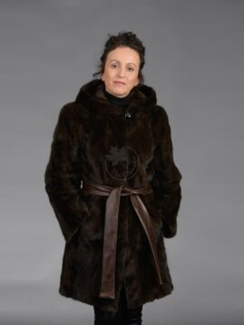 Mahogany Mink Piece Coat