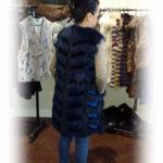 Seal & American Raccoon Long Vest - Blue