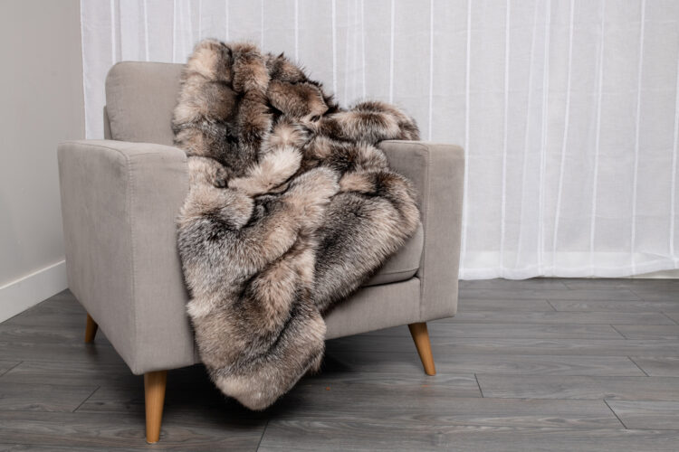 Crystal Fox Fur Blanket