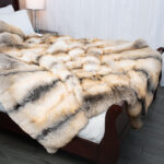 Golden Island Fox Fur Blanket