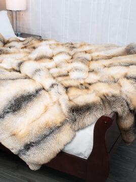 Golden Island Fox Fur Blanket