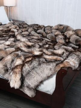 Crystal Fox Fur Blanket